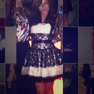 Jessica MCClintock short poofy contrail dress