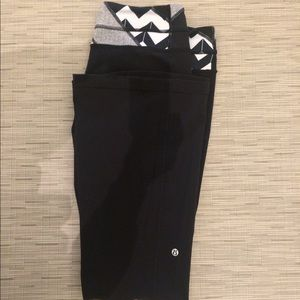 "Lululemon ""The Groove Pant"" BLACK/ WHITE, Size 12"