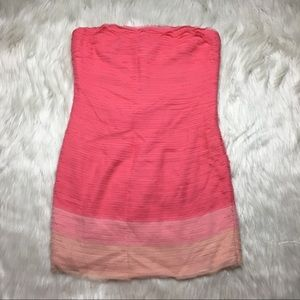 Alice + Olivia Pink Ombré Dress Ruffle Size Small
