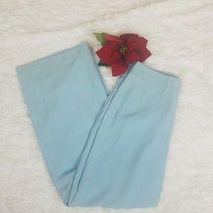 Tommy Bahama Light Blue Wide Leg Dress Pants