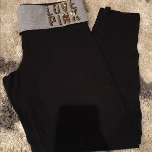 PINK• Yoga• Victoria's Secret •Size Large