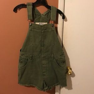 Olive green overalls