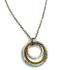 N2296 Silpada Sterling Silver INNER CIRCLES Neckla
