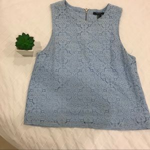 Forever 21 sky blue lace top