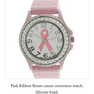 Pink Ribbon breast cancer awareness watch