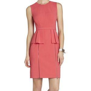 BCBG pink peplum dress