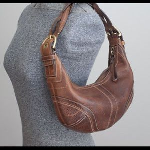 Coach Brown Leather Soho Bag with Braided Strap