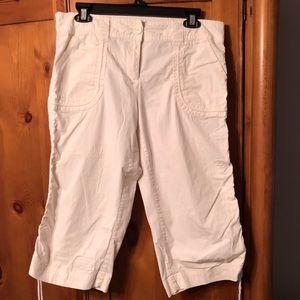 Cream Capri pants, sz 10