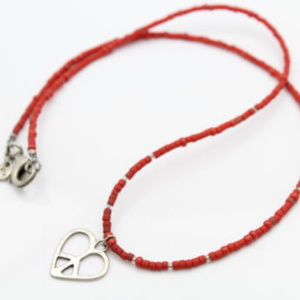 N1834 Retired Silpada Red beaded necklace.