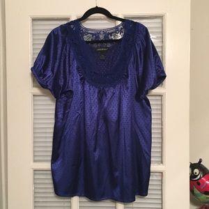 Lane Bryant Royal Blue Top Size 18/20
