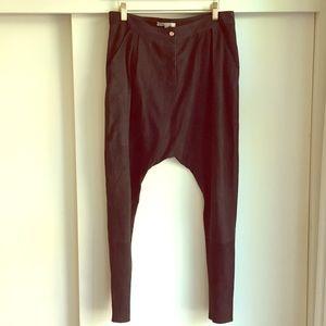 Suede harem pants by French designer Maje
