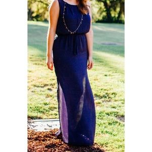 Forever 21 gorgeous navy blue dress
