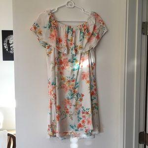 ONLY WORN ONCE off the shoulder Floral dress