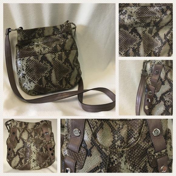 B Makowsky Bags   Snakeskin Convertible Bag Likenew   Poshmark a139c767fb