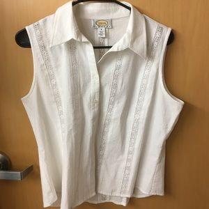 Talbots Petite White Shirt Medium