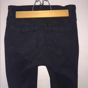 Distressed Black Jeans Wax Jeans