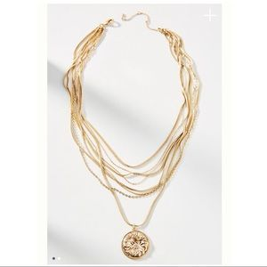 NWT Anthropologie Coin Layered Necklace