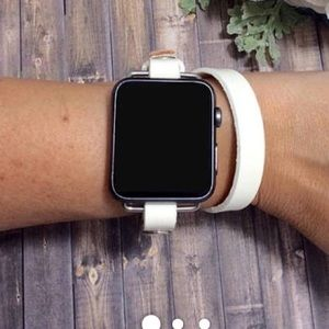 White leather iwatch band 38 inch