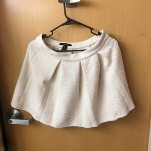 Forever 21 Cream Skirt Medium