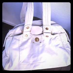 Marc Jacobs white soft leather gold hardware bag