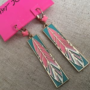 Betsey Johnson Gold-Tone Feather Earrings