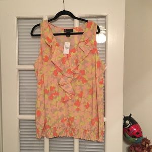 Lane Bryant Floral Top Size 22 NWT