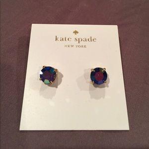 Kate spade blue gumdrop stud earrings