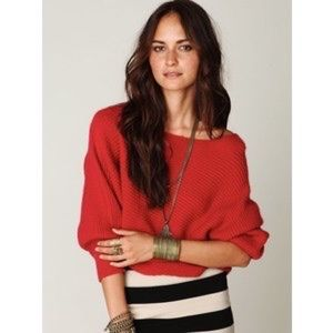 Free People Easy Days Off the Shoulder Sweater