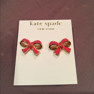 Kate spade classic pink bow earrings