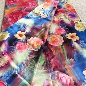 Accessories - Double Sided Floral 100% silk  Scarf