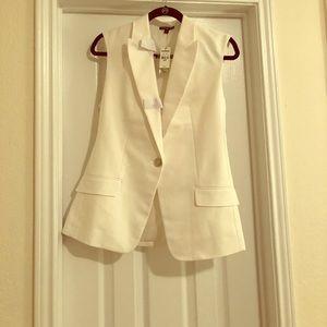 Never worn! White suit vest