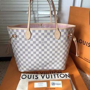 Brand New Louis Vuitton Neverfull Rose Ballerine