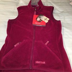 NWT Marmot Berry fleece zip up vest size small