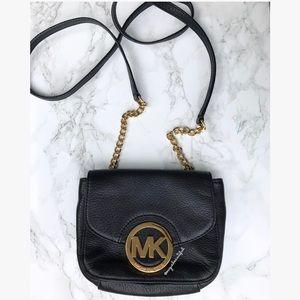 Michael Kors Fulton Small Leather Crossbody Black
