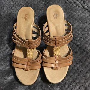 Uggs wedge sandal/heels