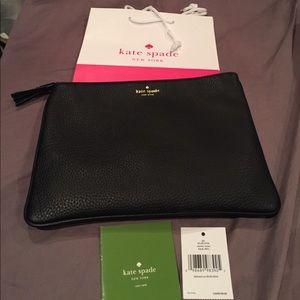 Kate spade black Gia clutch bag