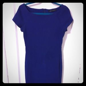 Blue Fitted Shift Dress