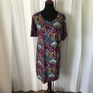 Asos Pink Clove Floral T-Shirt Dress Size 24