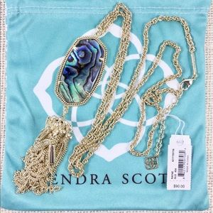 Kendra Scott Rayne abalone gold necklace