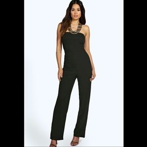 Boohoo Carly Crepe Jumpsuit in Black (uk size 8)