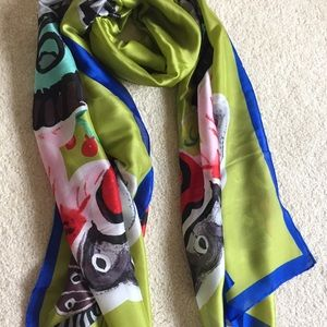 Accessories - Butterfly 100% Silk Scarf