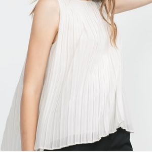 zara pleated blouse