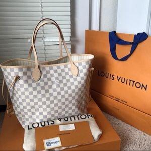 Brand New Louis Vuitton Neverfull Damier Azur