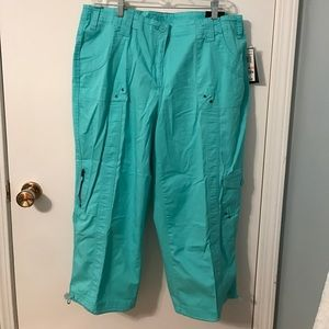 NEW Style & Co. Midrise Capri Cotton Pants Blue