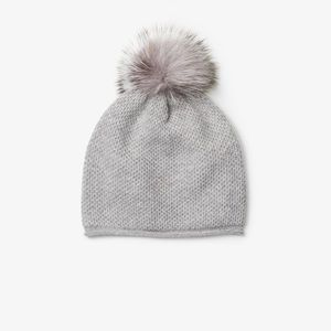 Michael Kors Cashmere and Fur Pom Pom Beanie