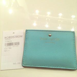 Kate spade leather card holder wallet