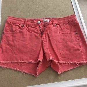 Forever 21 denim coral shorts