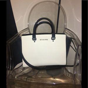 Authentic Michael Kors black/white Selma purse