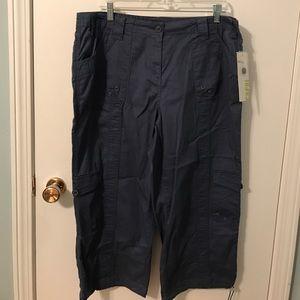 NEW Style & Co. Capri Cotton Pants Navy