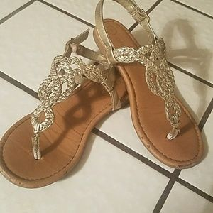Used condition little girls sandals
